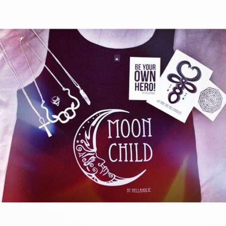 Moonchild vest with stickers