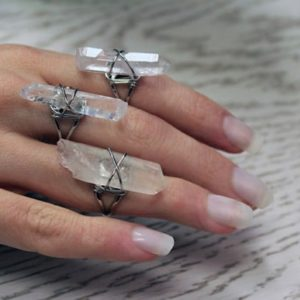Clear Raw Quartz Ring