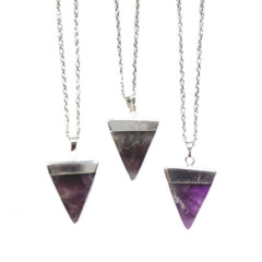 Amethyst Triangle Necklace