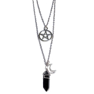 Witchcraft Duo Necklace Onyx