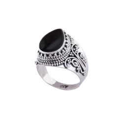Astara Silver Onyx Ring Size 7