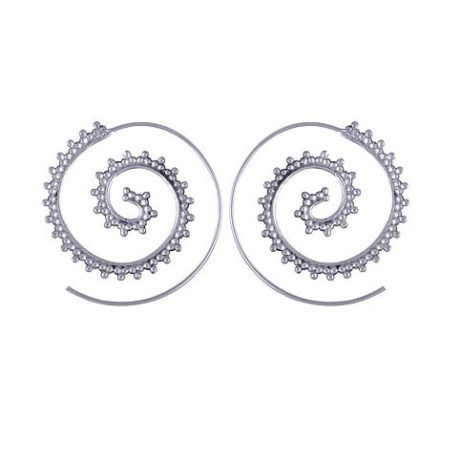 spiral-boho-silver-earrings