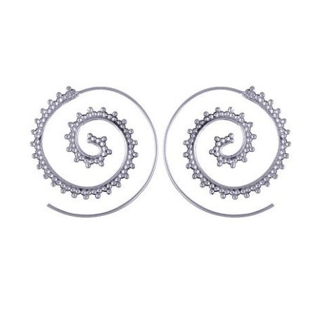 spiral-boho-silver-earrings