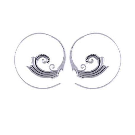 Swirl-Boho-Silver-Earrings