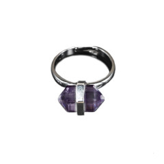 Hexagon Amethyst Ring