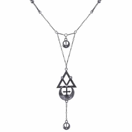 GEOMETRY-SILVER-necklace-long-chain-alchemical-symbols