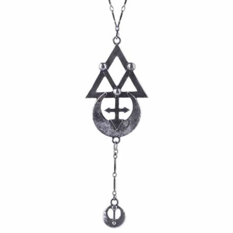 GEOMETRY-SILVER-necklace-long-chain-alchemical-symbols-close-up