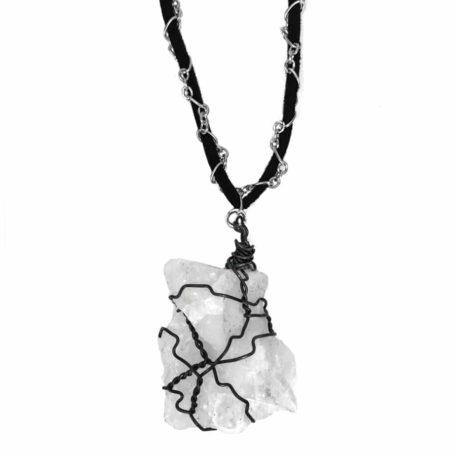 Stone cloud necklace close up