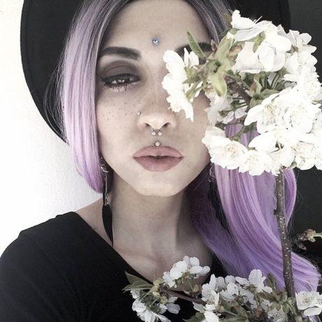 spring-florals-purple-hair