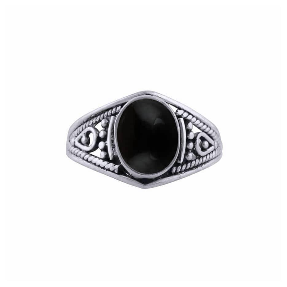 Aelia Onyx Silver Ring