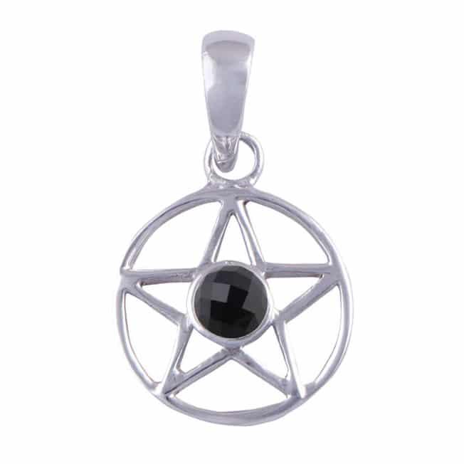Onyx sterling silver pentagram choker we are the hellaholics onyx sterling silver pentagram pendant aloadofball Choice Image