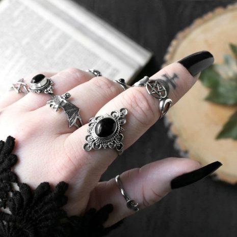 ariana-silver-ring-triple-moon-pentagram-goddess-silver-ring-hellaholics