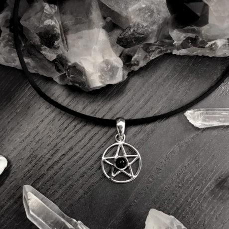 sterling-silver-onyx-pentagram-choker