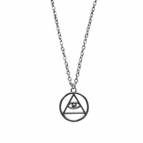 Occult eternal eye symbol necklace