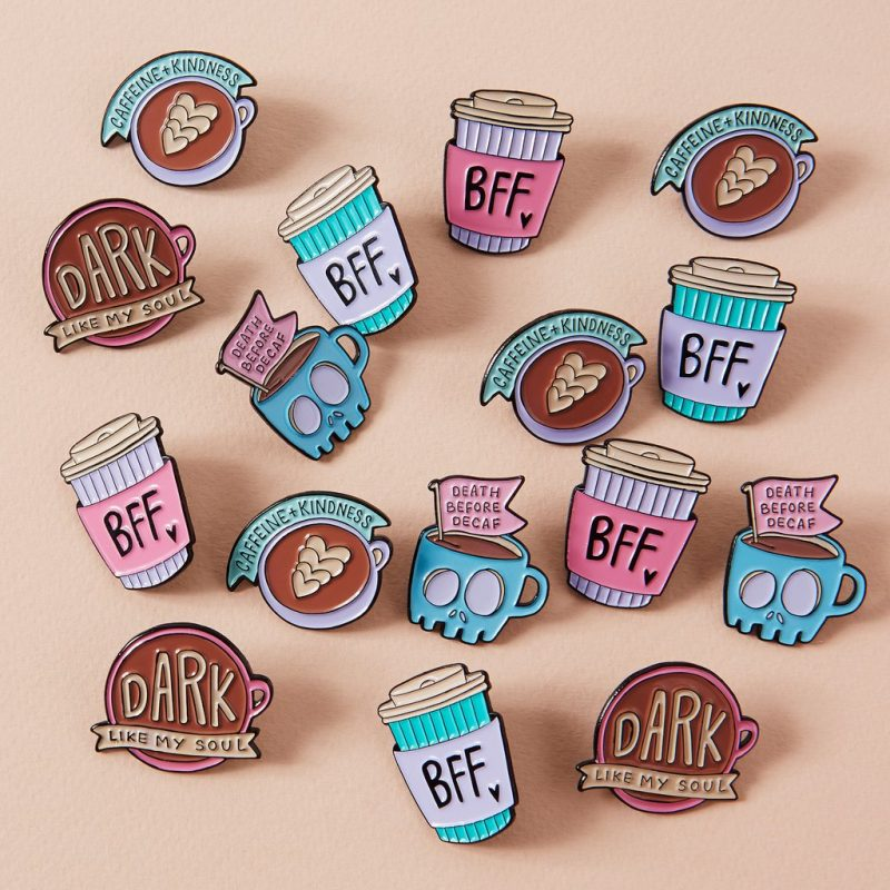 coffee pins from punky pins
