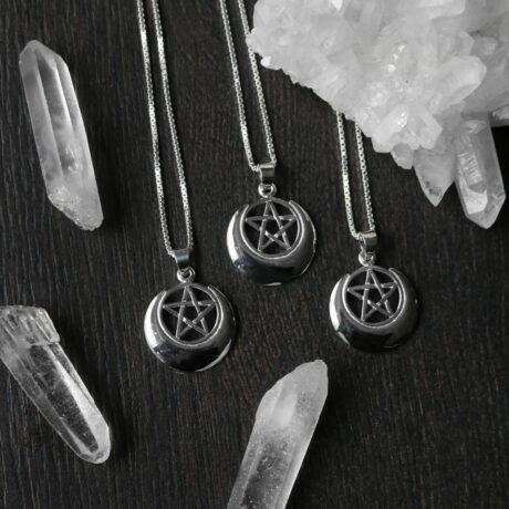 lunar-priestess-pentagram-silver-pendants