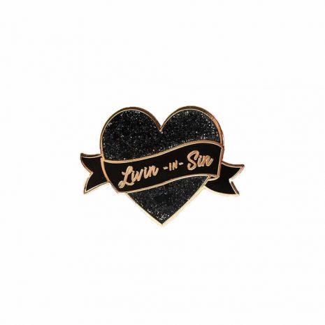 black heart pin