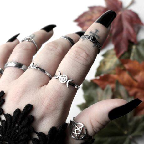 pentagram-silver-ring-triple-moon-pentagram-silver-ring-aranza-mid-ring-hellaholics