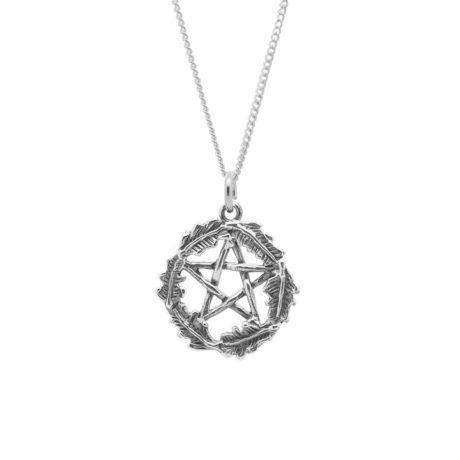 sterling-silver-925-oak-leaf-pagan-pentagram-pendant-hellaholics
