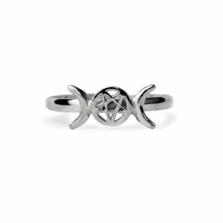 sterling-silver-925-pagan-triple-moon-goddess-pentagram-ring-hellaholics-close-up