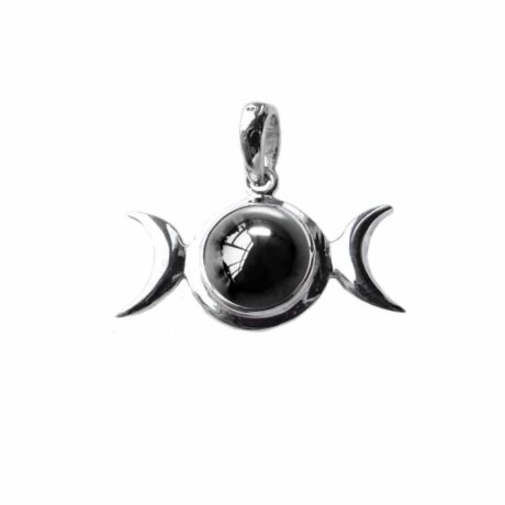 sterling-silver-925-triple-moon-godess-pendant-hematite-front-hellaholics