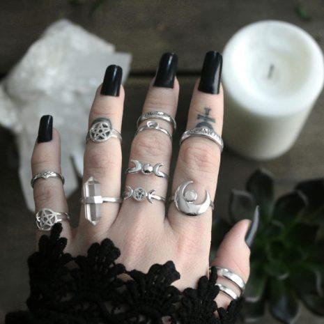 sterling-silver-rings-pentagram-moon-crystal-quartz-by-hellaholics