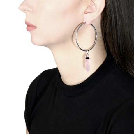 crystal-candy-rose-quartz-stainless-steel-hoops-earrings