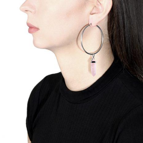 crystal-candy-rose-quartz-stainless-steel-hoops-earrings