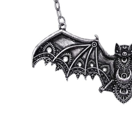 bat necklace close up