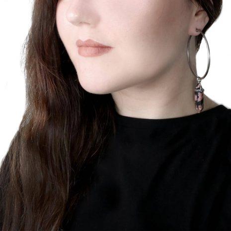 rhodonite-stainless-steel-hoops-earrings-sold-hellaholics