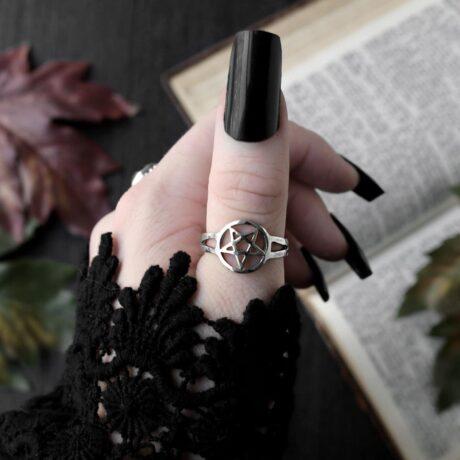 pentagram-silver-ringsilver-hellaholics