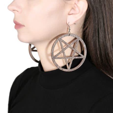 pentagram-wooden-errings-brown-hellaholics
