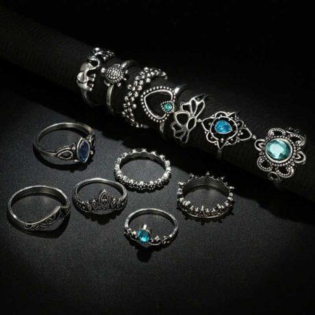 eshita-ring-set-black
