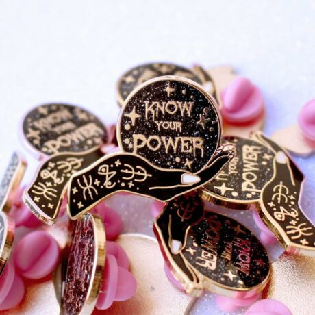 know-your-power-pins-glitter-punk-hellaholics