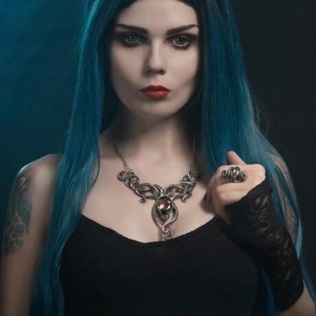 kraken-necklace-alchemy-england-model-elisanth-sold-by-hellaholics