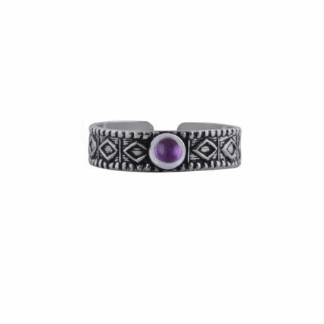 aranza-sterling-silver-mid-ring-amethyst-front