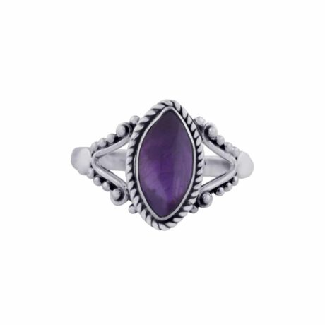 calida-sterling-silver-amethyst-ring-front