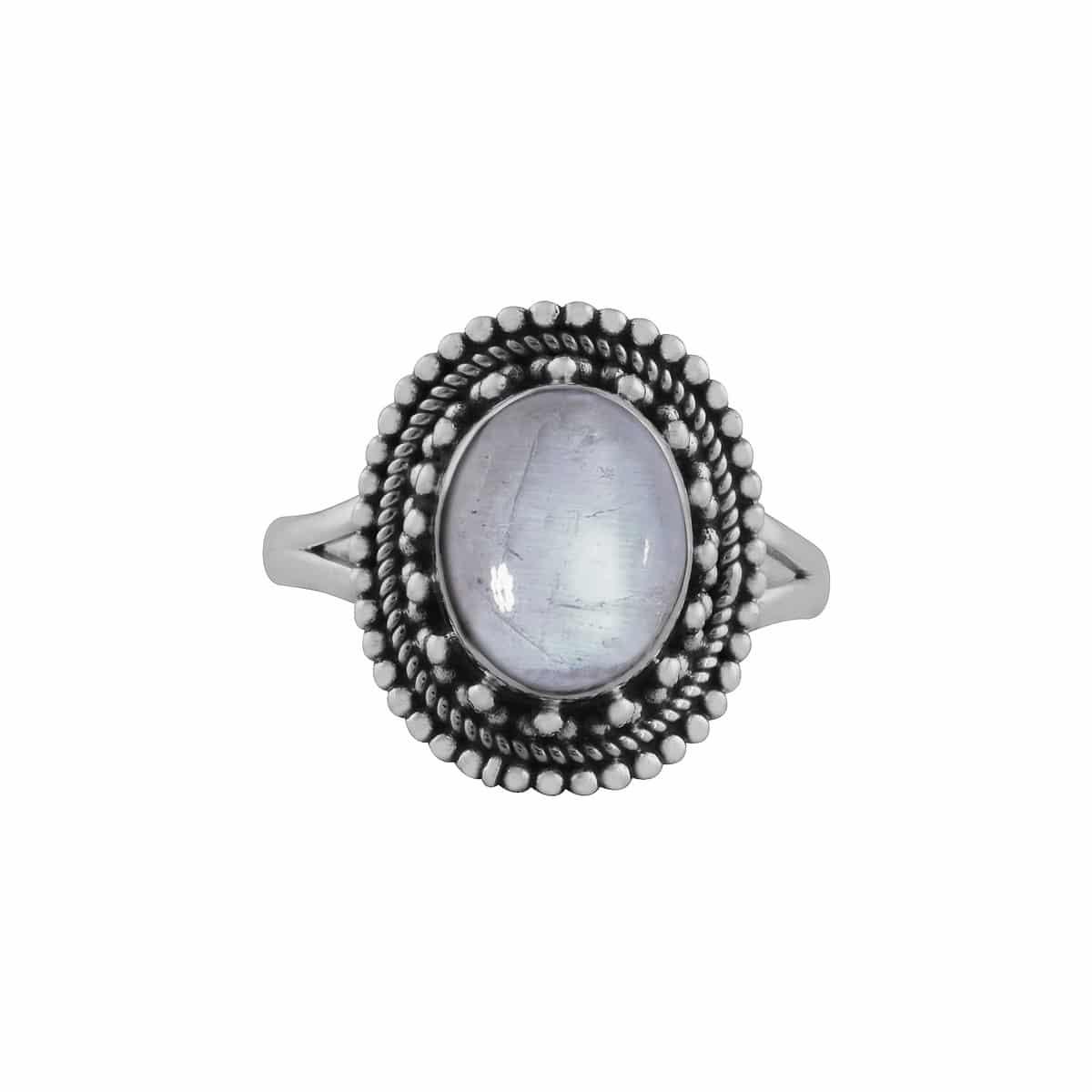 Nathalia Silver Moonstone Ring