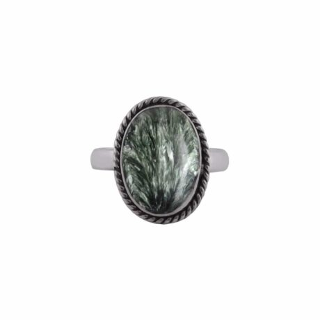seraphinite-green-sterling-silver-ring-front