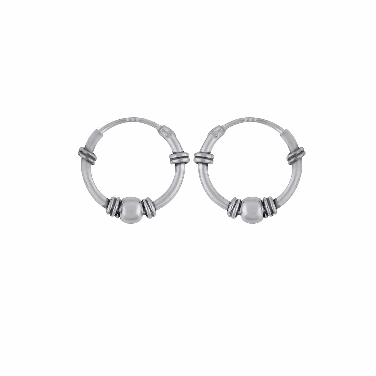 skate shoes high quality hot sales Bohemian Small Sterling Silver Hoops — Hellaholics