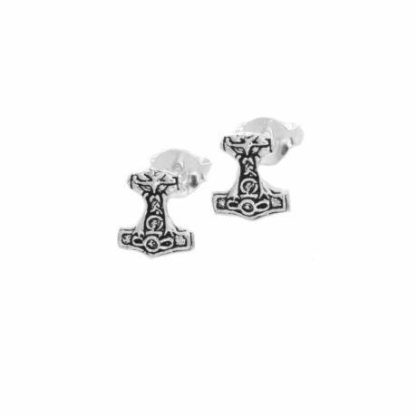 925-sterling-silver-thors-hammer-viking-stud-earrings-hellaholics
