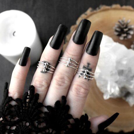 triple-bead-sterling-silver-rings-hellaholics
