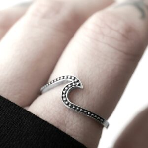 wave silver ring in sterling silver.