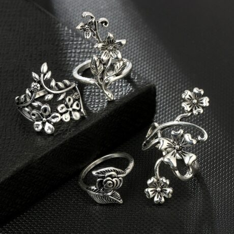 mystic-flowers-ring-set-black