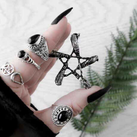 broom-pentagram-silver-necklace-restyle-silver-rings-hellaholics