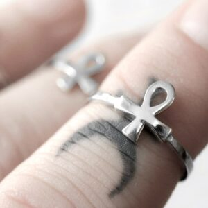 eternal eye sterling silver mid ring