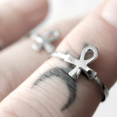 petite eternal eye sterling silver mid ring