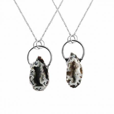 goddess-geode-black-grey-necklace-hellaholics