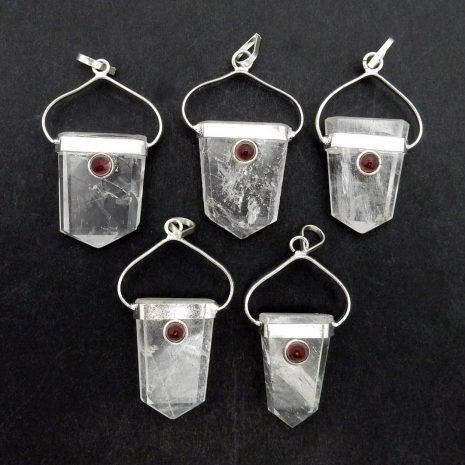 shield-crystal-quartz-garnet-necklaces-variantion