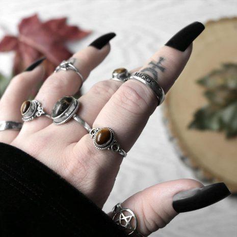 avila-tiger-eye-silverring-pentagram-silver-ring-magick-silver-ring-hellaholics